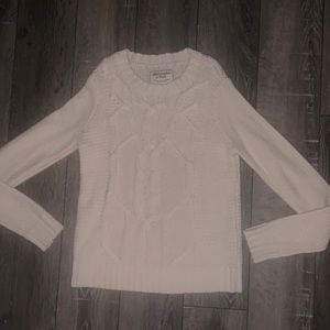 Abercrombie & Fitch cream cable knit sweater XS